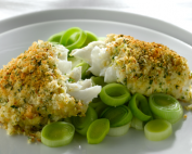 crusted-haddock-with-herb-mash-and-creamy-leeks